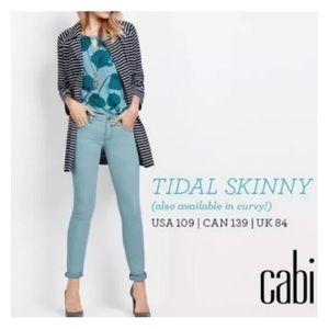 🦋 CAbi Tidal Skinny jeans, Style 5169, Size 0